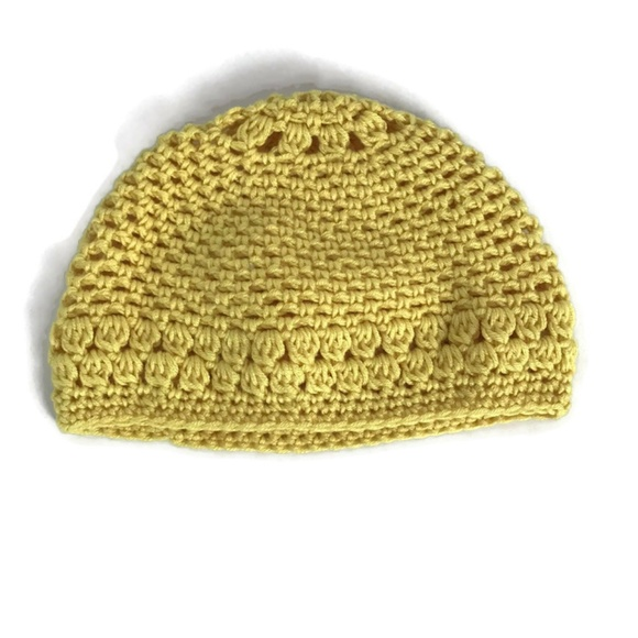 25bbe44b16166c Handmade Accessories   Crochet Kids Hat Beanie Yellow   Poshmark